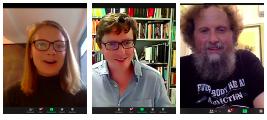 Tabatha McFadyen, Dr David Larkin & Warwick Fyfe gave zoom talks this year.